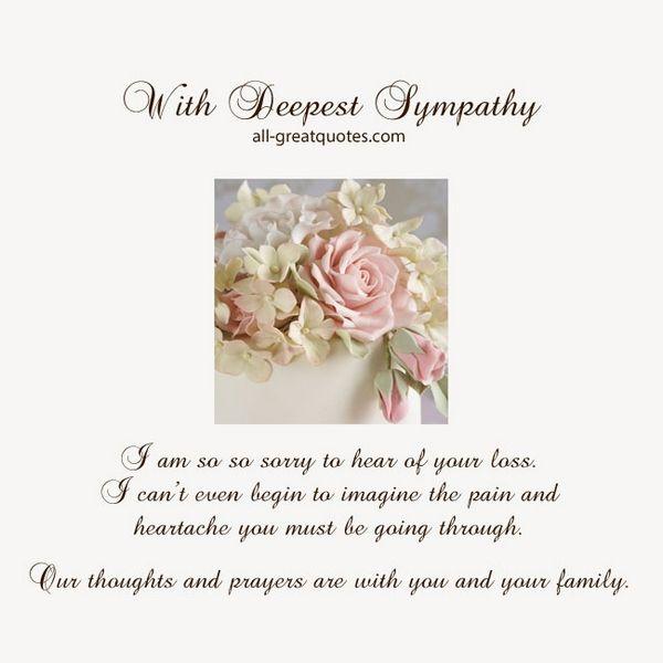 Sympathy Quotes for Death Condolences Messages in Loving Memory - sympathy message