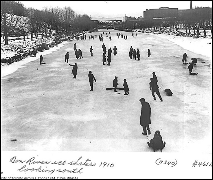 skating on the don river, 1910