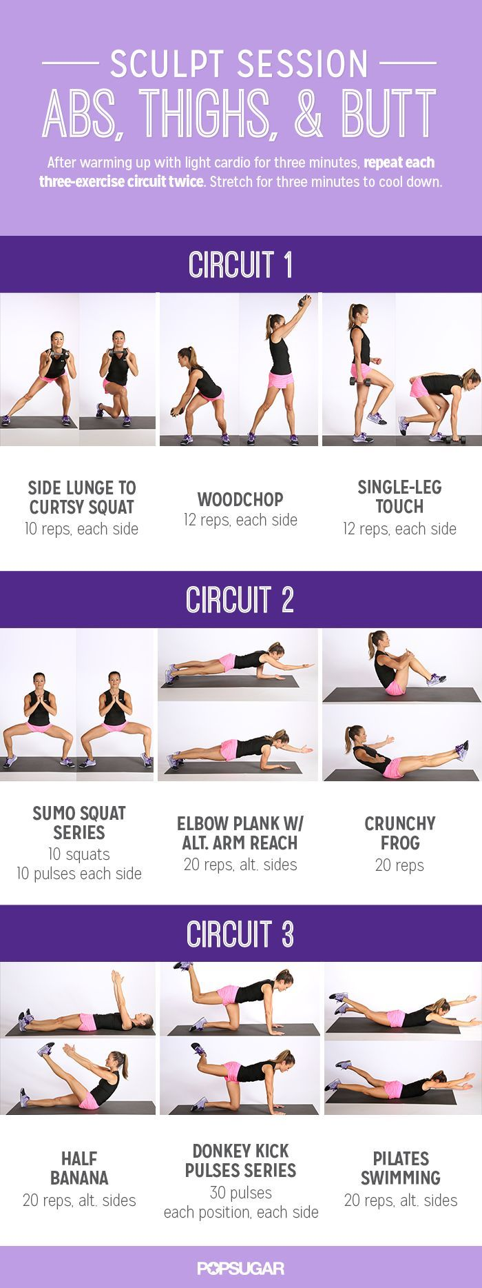 Printable Workout: Sculpt Session For Abs and Glutes