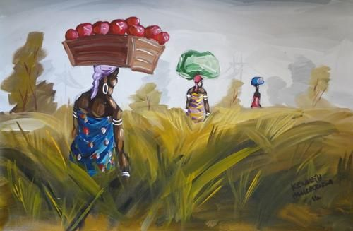 Oils - KENNETH MURADZIKWA - ON PROMOTION / GALLERY RETAIL R2 900 for sale in Hartbeespoort (ID:169720017)