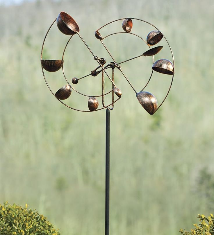 Wind Dancer With Antique Copper Finish - Kinetic art in the garden is awesome.