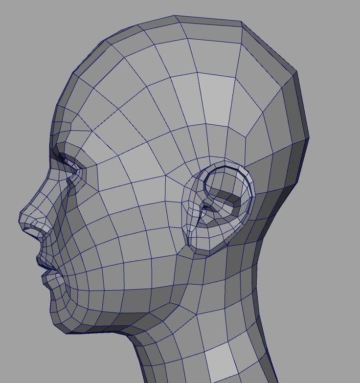 [C4D] WIP Human Head
