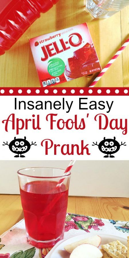 Insanely Easy Last Minute April Fools' Day Prank for Kids
