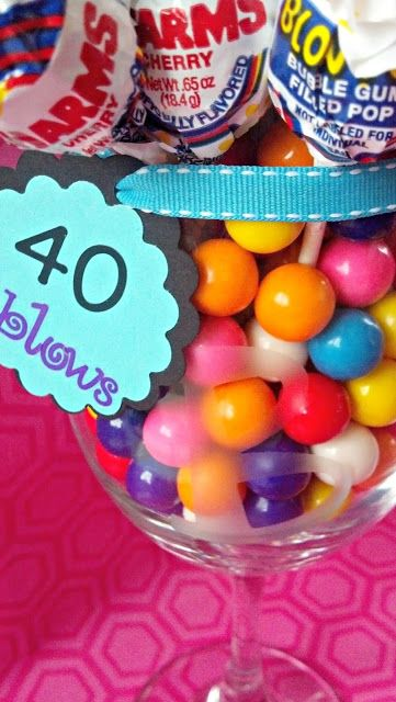 40 Blows with etched glass and free printables I crazyloucreations.blogspot.com #printable #40th #birthday #gift