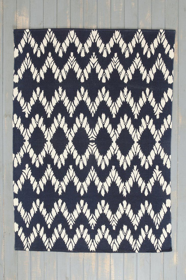 Magical Thinking Chevron Handmade Rug in Navy, Turquoise or Pink. 5x7 ...