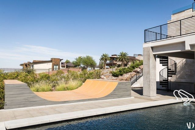 """""""When I first saw the back yard, there was nothing there, it was like a desert,"""" says Aoki of the 40,000-square-foot lot."""