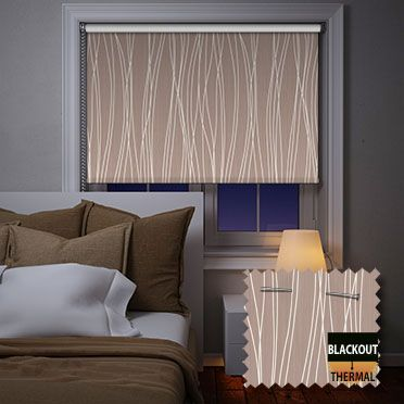 Lovely Drizzle Brown Roller Blind
