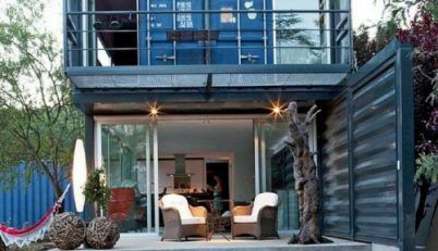 STACKED SHIPPING CONTAINER HOME IN SPAIN