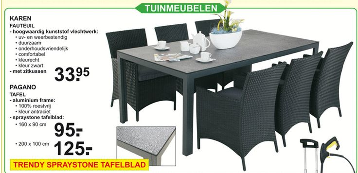 Deze stoelen zouden mooi staan bij de nieuwe steigerhouten tafel. Hetzelfde materiaal als de bank die we hebben.
