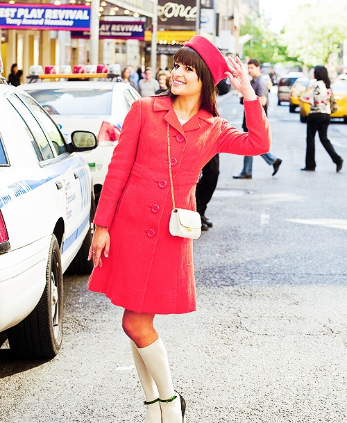 Rachel Berry outfit, love the coat