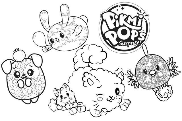 Top Pikmi Pops Characters Coloring Pages Pikmi Pops