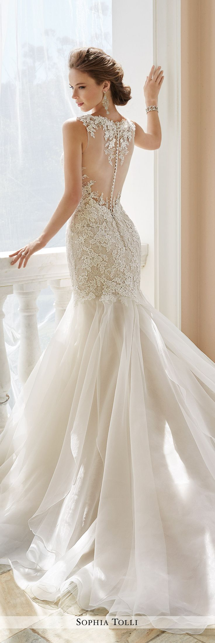 Fresh Sophia Tolli Fall Wedding Gown Collection Style No Y Aprilia sleeveless lace
