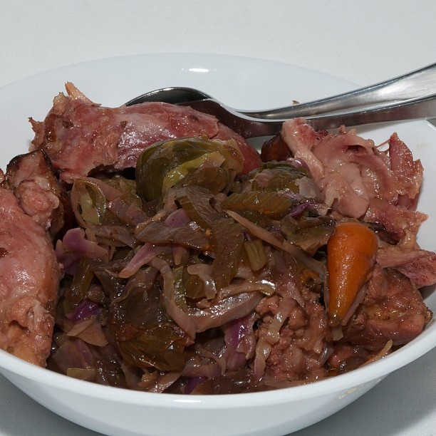 #dinner My bowl of slow cooked smoked ham hock #yummy