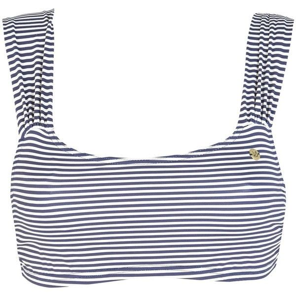 Banana Moon Bikini Top ($51) ❤ liked on Polyvore featuring swimwear, bikinis, bikini tops, dark blue, swim tops, banana moon, swim suit tops, stripe bikini and banana moon swimwear
