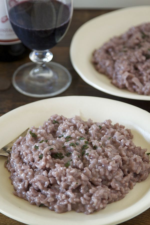 Red Wine and Sage Risotto from www.whatsgabycooking.com