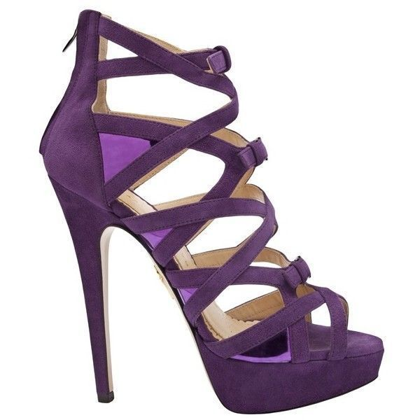Charlotte Olympia Purple Strappy Platform Heel ❤ liked on Polyvore featuring shoes, pumps, platform pumps, purple pumps, strappy pumps, strap shoes y purple platform pumps #charlotteolympiaheelsoutfit #charlotteolympiaheelsplatform