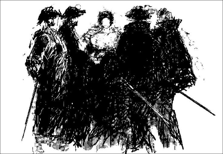 """H e n n i n g H o l m N i e l s e n. PC-drawing. THEATER """"MyLady and the Four Musketeers"""""""