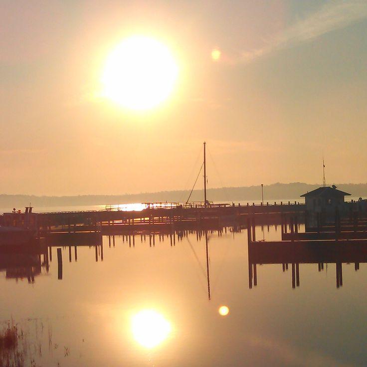 A Pure Michigan morning at DeTour State Harbor, DeTour Village, MI.