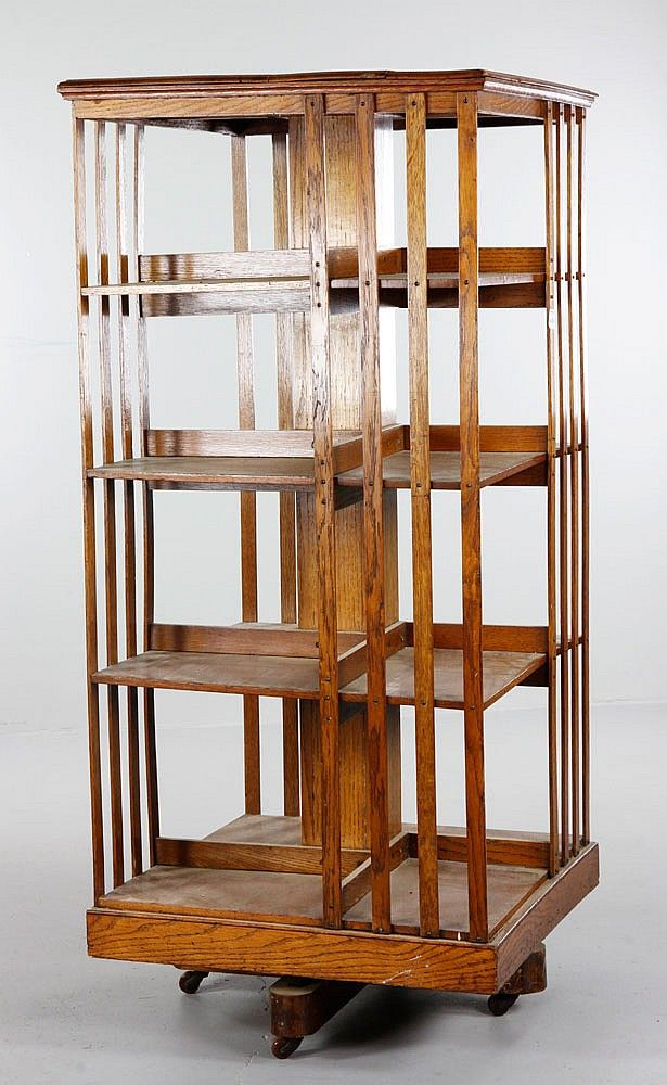 Realized Price: $400 Estimated Price: $300 - $500 Oak Arts and Crafts revolving  bookcase - 39 Best Revolving Bookcase Images On Pinterest