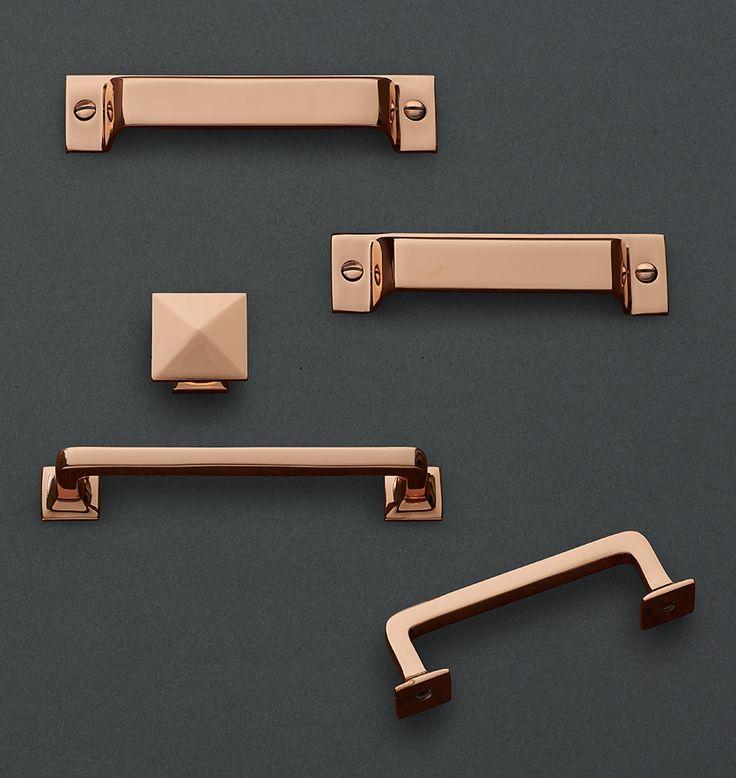 Copper Kitchen Cabinet Handles: 76 Best Copper Hardware Images On Pinterest