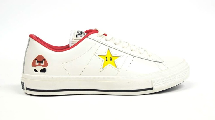 CONVERSE ONE STAR SUPER MARIO Sneakers: Running Shoes, Style, Clothing, Super Mario Brothers, Stars Super, Men'S Converse, Mario Sneakers, Mario Converse, Super Mario Bros