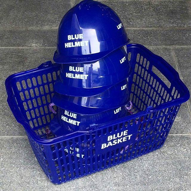 ADER street   BLUE : TIME  BLUE item.  #BLUE helmet  #BLUE basket  #BLUE water