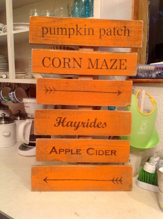 Harvest Festival Direction Sign by PicketCountryWood on Etsy, $40.00