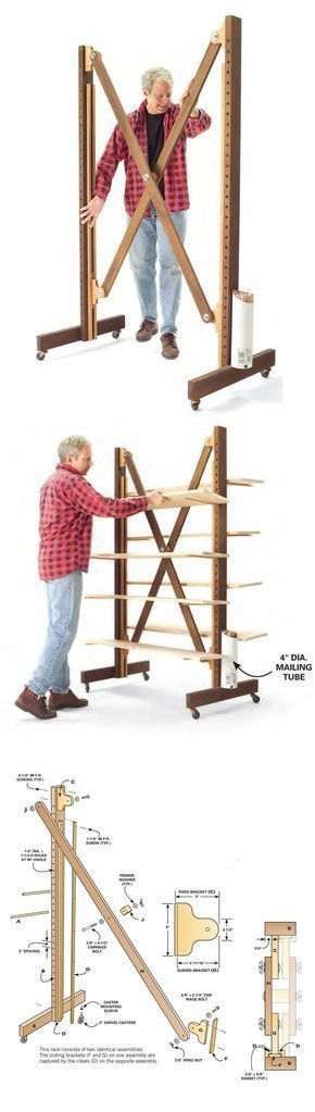 Expandable Parts Rack | http://www.popularwoodworking.com/projects/aw-extra-small-shop-solutions #woodworkingideas