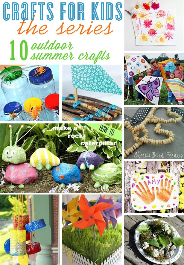 Crafts for kids ~ 10 outdoor craft ideas to keep your kiddos busy and learning this summer #kidcrafts #summerideas #craftsforkids