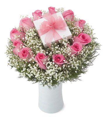 Pink roses with chocolates... #BloomersFlowerShop