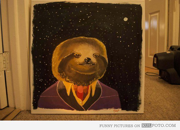 Classy sloth: Galleries, Sir Sloths, Funny Pictures, Sloths Art, Paintings, Classy Sloths, Dapper Sloths