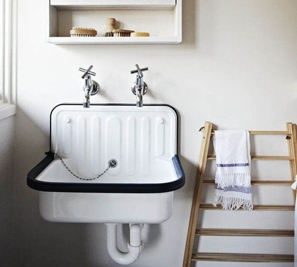 Lately we've been noticing the humble Alape bucket sink in washrooms everywhere (we first spotted it at Labour and Wait, in London). Here's a roundup of spaces, plus a source for the sink.