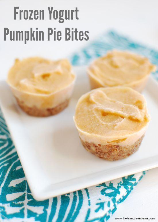 Frozen Yogurt Pumpkin Pie Bites | Recipe | Frozen Yogurt, Pumpkin Pies ...