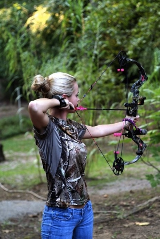 Awesome pink and camo compound bow for the lady
