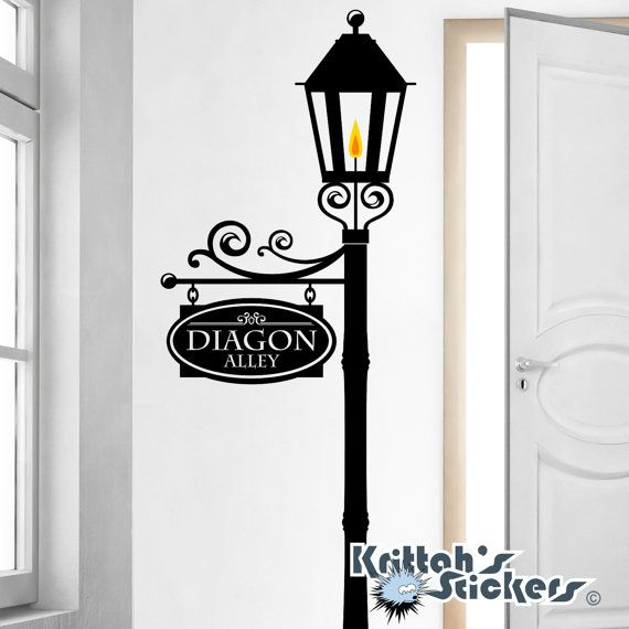 Custom Street Sign on a Gas L& Post Vinyl Wall Decal (add a note with your 2 word sign name family name street name anything else) K584  sc 1 st  Pinterest & 25+ unique Custom street signs ideas on Pinterest | Street signs ... azcodes.com