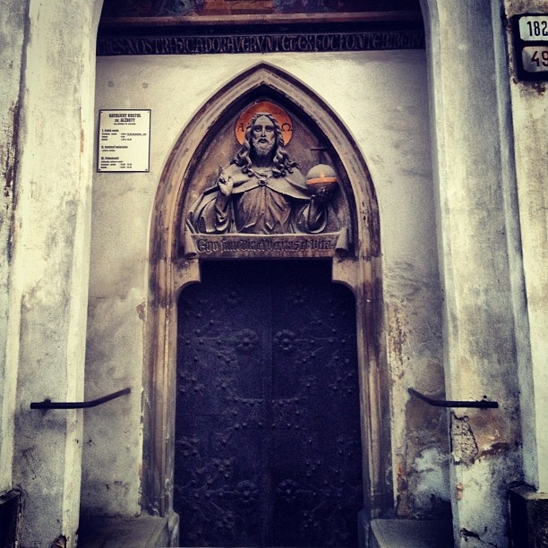 Somewhere in Slovakia there´s this beautiful church door ...