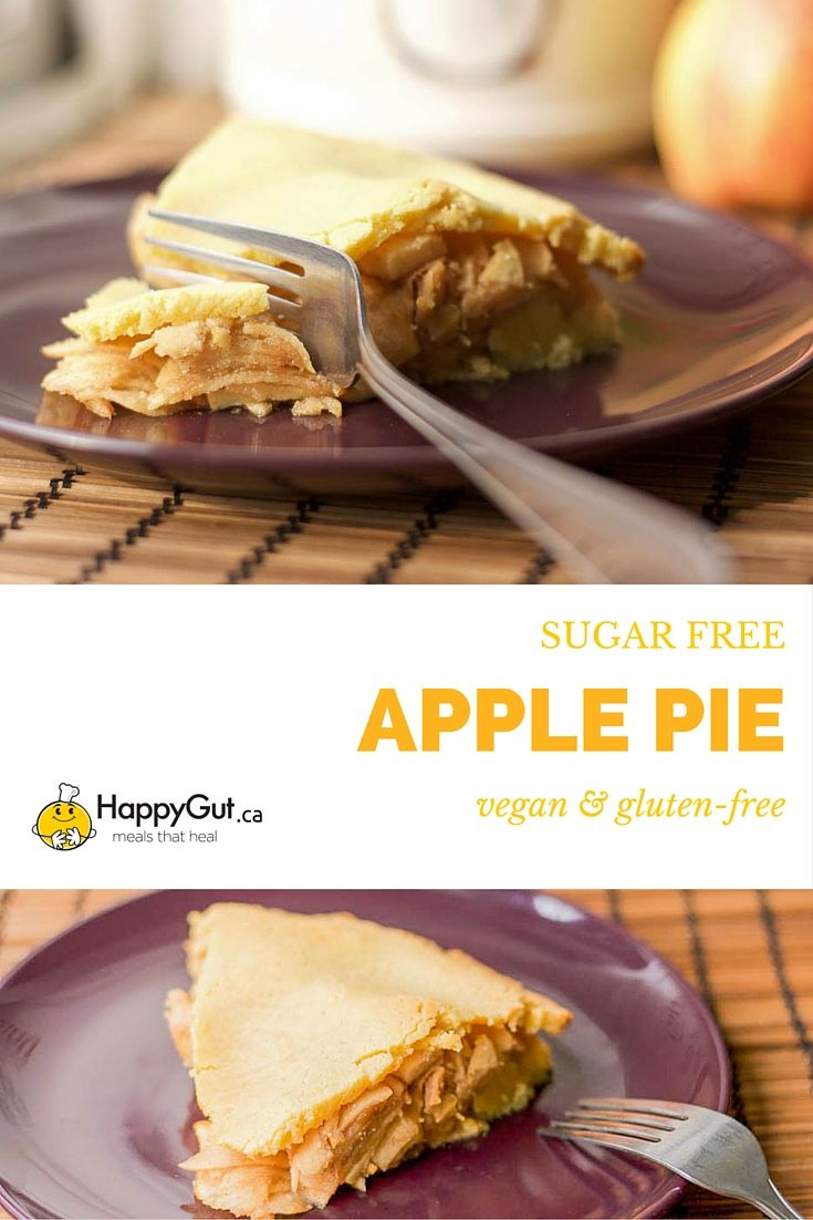 Sugar Free, Vegan, Gluten-Free Apple Pie from happygut.ca #dessert # ...