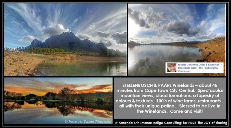 Panaromanic views of Stellenbosch & Paarl Winelands, 45 min from #capetown. Such a privilege to live right here.Bliss