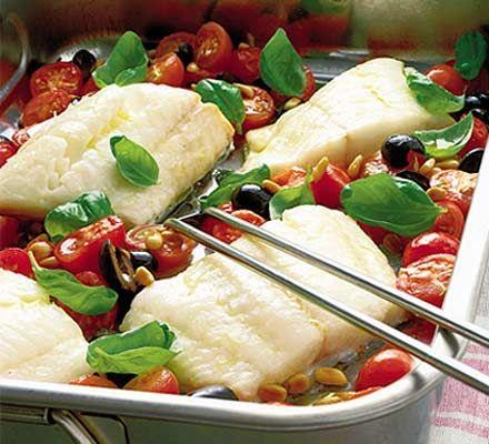 Roasted fish Italian style recipe - Recipes - BBC Good Food