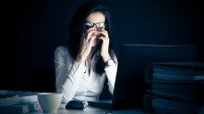 Work brings with it glare from bad lighting and computer screens, noise, stress, and more factors that can add up to headaches. Learn ways to cope.