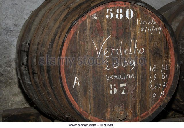 Old madeira wine barrels in the attic in Funchal, Madeira - Stock Image