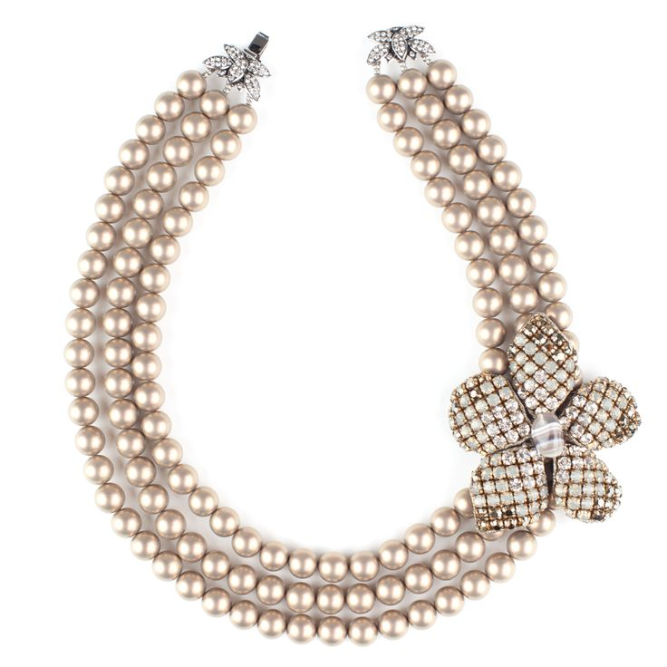 Orchid Pearl Necklace