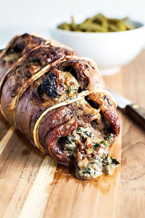 Baked Stuffed Flank Steak
