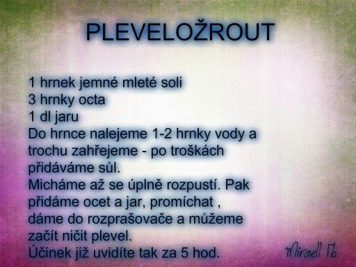 Co na plevel!!!