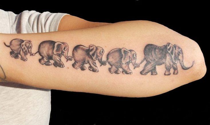 die besten 25 elefant tattoo ideen auf pinterest. Black Bedroom Furniture Sets. Home Design Ideas