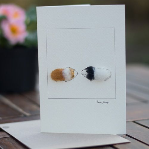 Penny Lindop Designs - Greeting Card - Two Guinea Pigs, �3.55 (http://www.pennylindop.com/greeting-card-two-guinea-pigs/)
