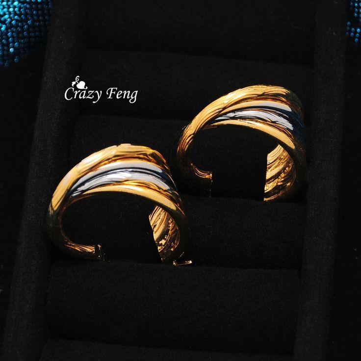 Сумасшедший фэн продвижение старинные круглые серьги высокое качество новый 18 К позолоченные металлический крюк серьги женщины мода Jewlery оптовая продажа