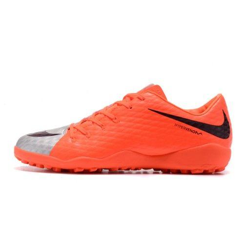 Kopen Goedkoop Beste Nike Hypervenom Phelon III TF Heren Dames Oranje Grijs Voetbalschoenen NL