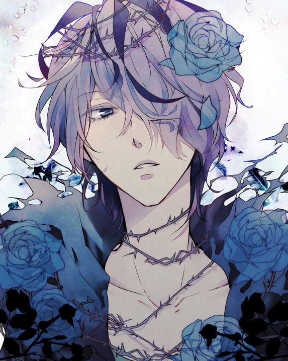 cute anime boys blue rose (<Okay whoever said that obviously doesn't understand this is Garry from Ib)