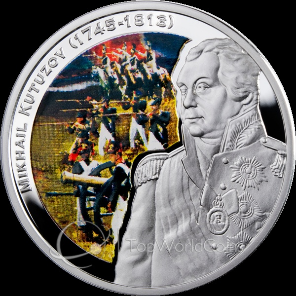 Niue 2010 1$ Mikhail Kutuzov Great Commanders Proof Silver Coin :: Top World Coins